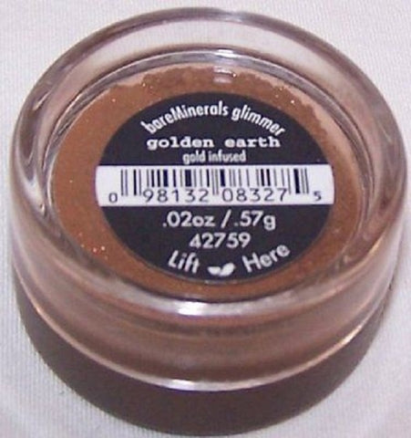 bareMinerals Eyeshadow Gold Infused Glimmer GOLDEN EARTH  .57 G