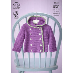 Baby Set in King Cole Comfort Aran - 3972