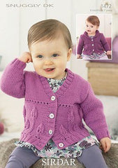 Girl's Cardigans In Sirdar Snuggly DK 1472 Knitting Pattern