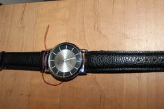 Pretty Watch with Black & Silver Face and Black Band
