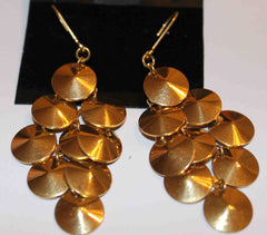 Fun Goldtone Dangle Earrings