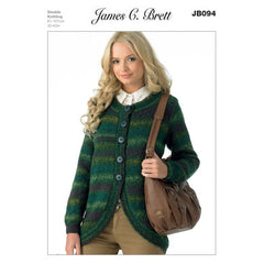 James C Brett - Knitting Pattern Yarn Weight Double Knitting Ladies Jacket JB094