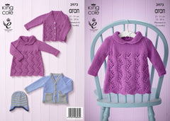 Baby Set in King Cole Comfort Aran - 3973