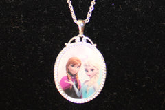 Disney's Frozen Necklace with Anna & Elsa
