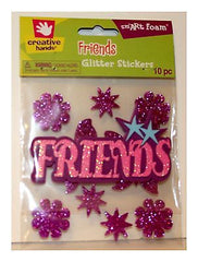 Fibre Craft Creative Hands Smart Foam FRIENDS Glitter Stickers 10 Piece