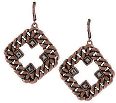 Heidi Klum Curblink Chain and Crystal Earrings  J261748  Rosetone