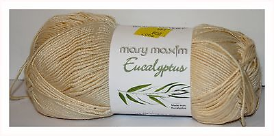 Mary Maxim Eucalyptus 100% Natural Single Skein Pale Yellow