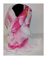 Elegant Floral Pattern Long Scarf Wrap