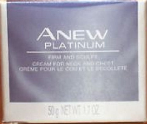 Avon Anew Platinum Firm and Sculpt Cream for Neck and Chest 1.7 oz