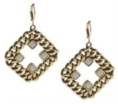 Heidi Klum Curblink Chain and Crystal Earrings  J261748  Goldtone