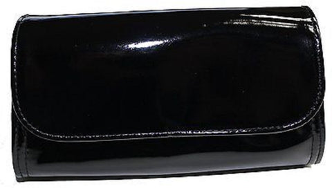 bareMinerals Shiny Black Triangular Make-Up Bag With Button Closure