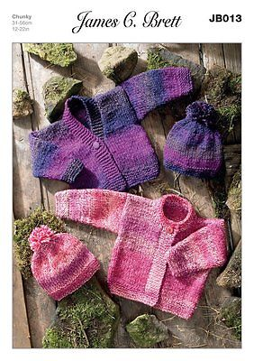JB013 CARDIGANS AND HAT Pattern PREEMIE - AGE 3