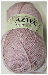 James C Brett Aztec Aran  Alpaca Yarn 100g AL4 Shade of Light Pink