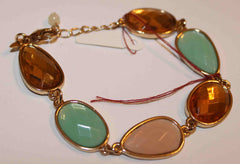 Amber and Teal Green Bracelet W00552