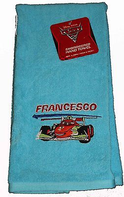 Francesco Embroidered Hand Towel Cars