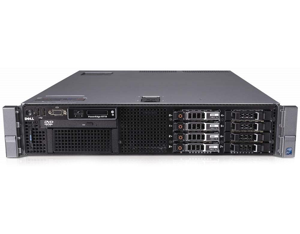 Dell PowerEdge R710 - Dual Intel Xeon E5540 Hex Core 2 4Ghz - 4GB DDR3