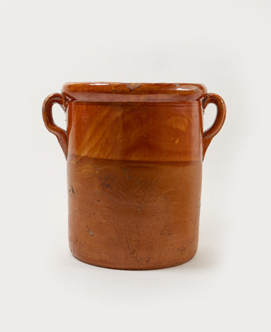 Amber Conserve Jar with Handles