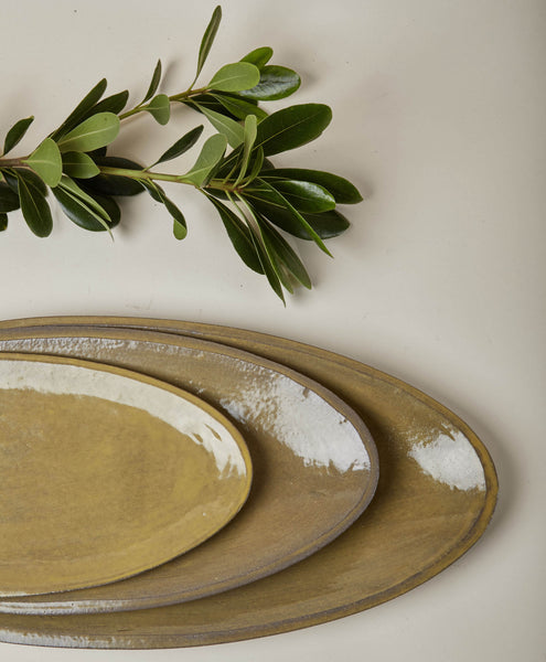 Set of Nested Oval Platters