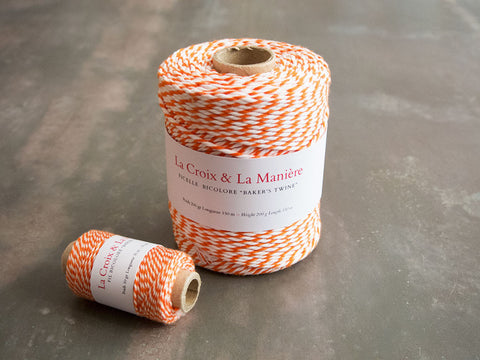 Fil ou ficelle bicolore « Bakers twine » orange