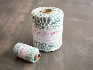 Fil ou ficelle bicolore «Baker's twine» turquoise