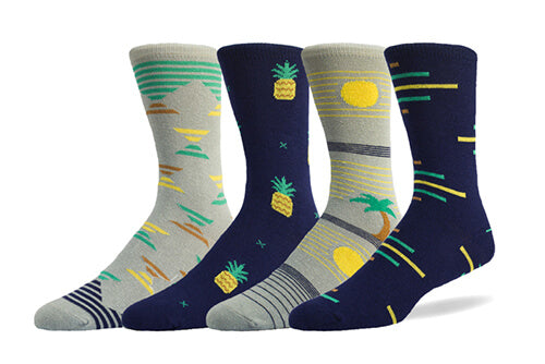 swap socks mismatched sock pack tropical arcade made in america