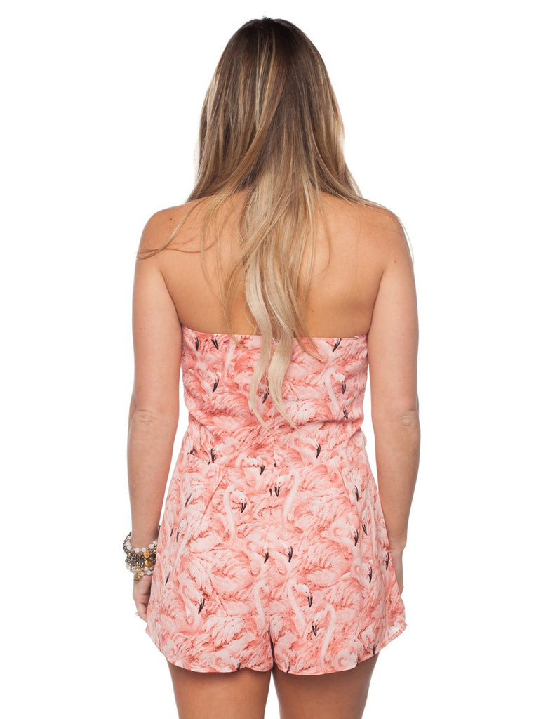 THE JUMBIE FLAMINGO ROMPER