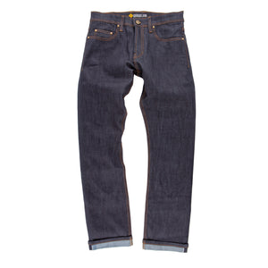 Resurgence Gear Mens Skinny Cafe Racer Selvedge motorbike jeans, safer alternative to Kevlar jeans