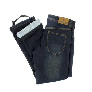 Mens Voyager Vintage Brown PEKEV motorbike jeans, safer alternative to Kevlar jeans