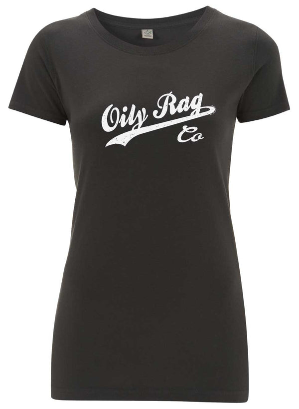 Oily Rag Clothing Co Ladies T'Shirt in Charcoal