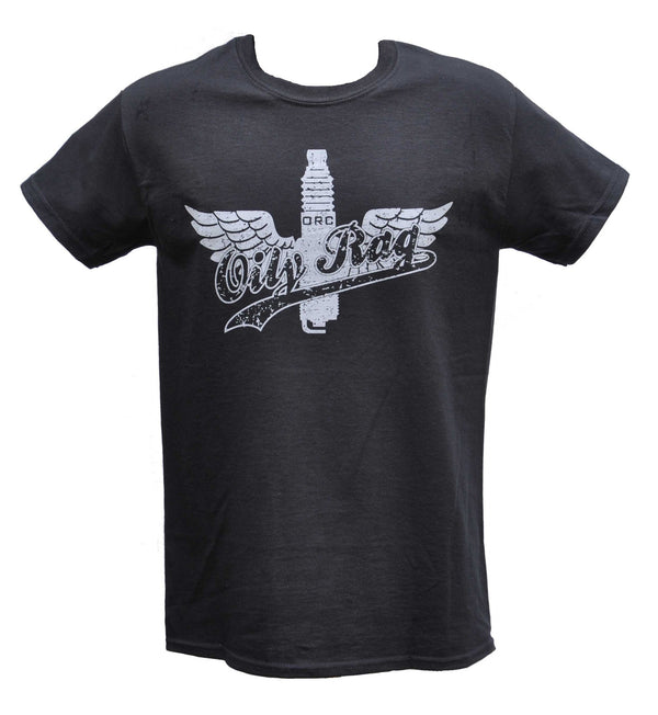 Oily Rag Clothing Winged Plug retro T'shirt