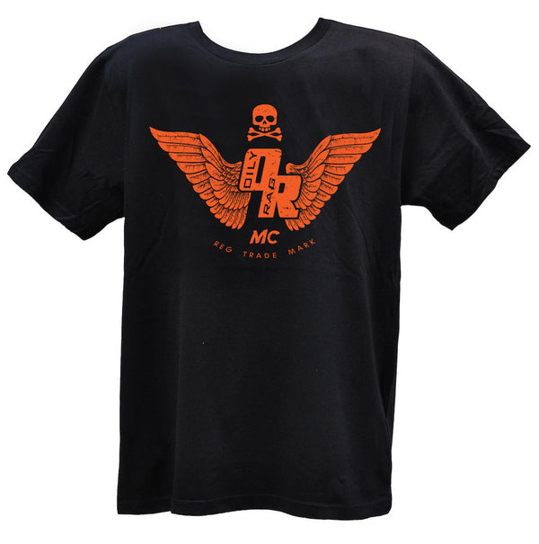 Oily Rag Clothing Motorcycle Club T'Shirt in Black