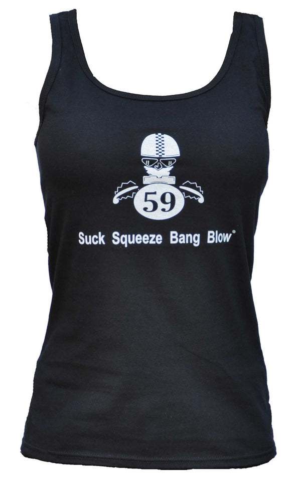 Oily Rag Suck Squeeze Bang Blow retro motorcycle ladies vest
