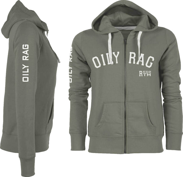 Oily Rag Clothing Ladies's Trademark Zipped Hoodie