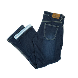 Mens Voyager Indigo Blue PEKEV motorbike jeans, safer alternative to Kevlar jeans