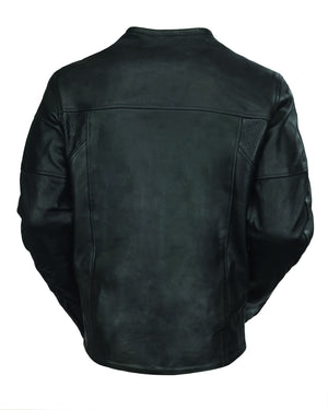 Roland Sands Design Barfly leather motorcycle jacket Black