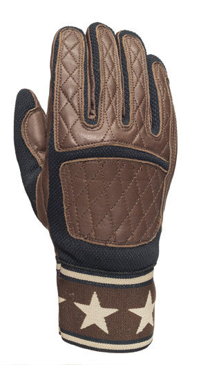Roland Sands design Peristyle Gloves in Tobacco