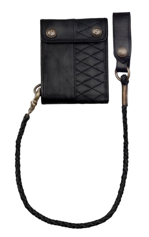 Roland Sands Design Riverside Wallet in Black