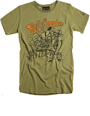 Holy Freedom Ratter Green custom motorcycle t'shirt