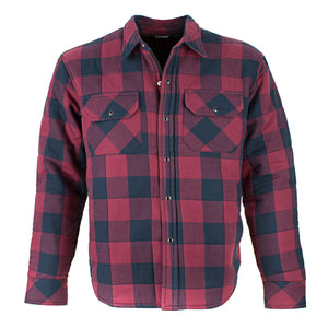 Resurgence Gear Riding Shirt Jacket in Black and Red check