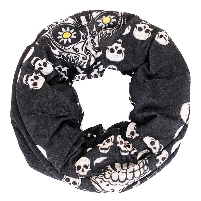 Holy Freedom Skull Pile Custom Motorcycle Bandana Tube