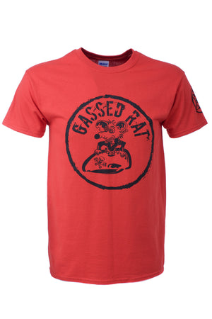 Gassed Rat Retro Motorbike T'Shirt