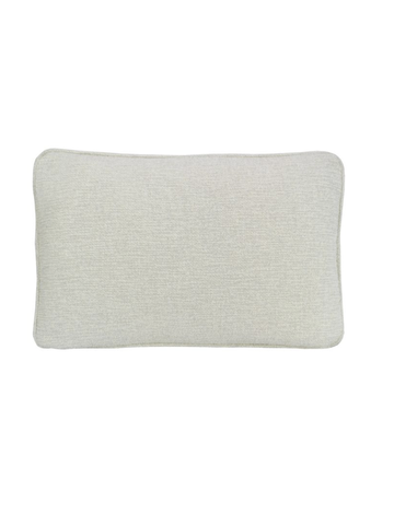 Coco Piped Lumbar Cushion - Textured Pearl-Darcy & Duke-The Vignette Room - Unique & Inspiring Furniture & Homewares in Paddington Sydney