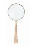 Magnifying Glass - Nude Leather-Madras Link-The Vignette Room - Unique & Inspiring Furniture & Homewares in Paddington Sydney