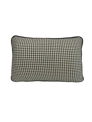 Coco Piped Lumbar Cushion - Houndstooth-Darcy & Duke-The Vignette Room - Unique & Inspiring Furniture & Homewares in Paddington Sydney