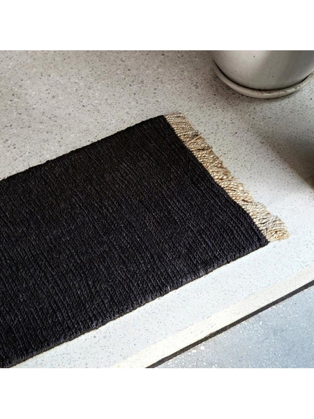 Armadillo & Co Sahara Weave Entrance Mat - Charcoal 60cm x 100cm