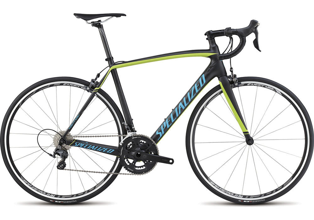 Specialized Tarmac Comp - Carbon/Hyper Green/Cyan - 52cm