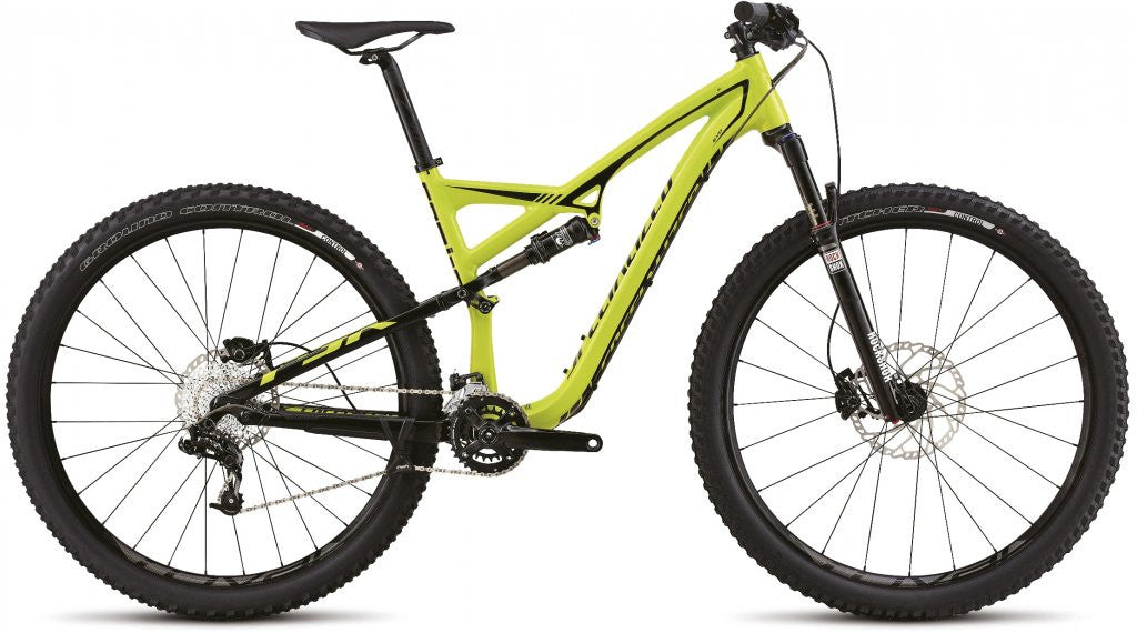 Specialized Camber FSR 29 - Black/Hyper Green/White - Large