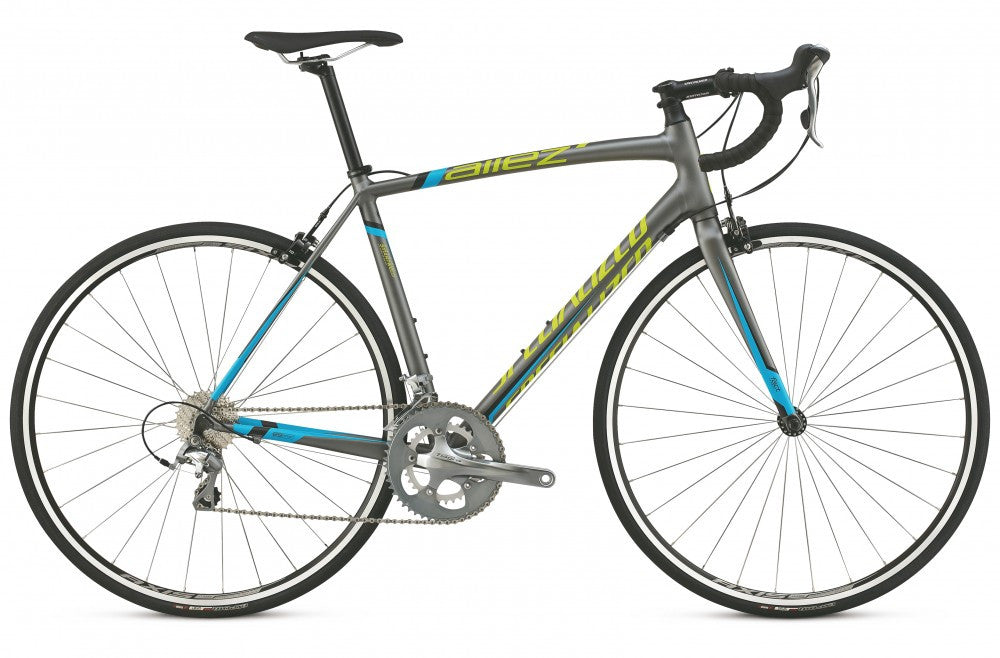 Specialized Allez Elite - Charcoal/Cyan/Hyper Green - 52cm