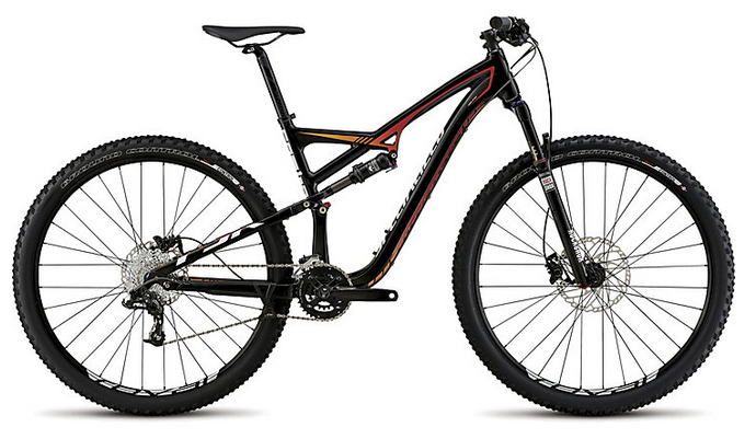 Specialized Camber FSR Comp 29 - Black/Red/White, Large