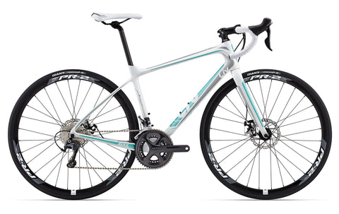 Specialized Women's Dolce Comp EQ - Silver/Charcoal/Emerald Green/White - 51cm